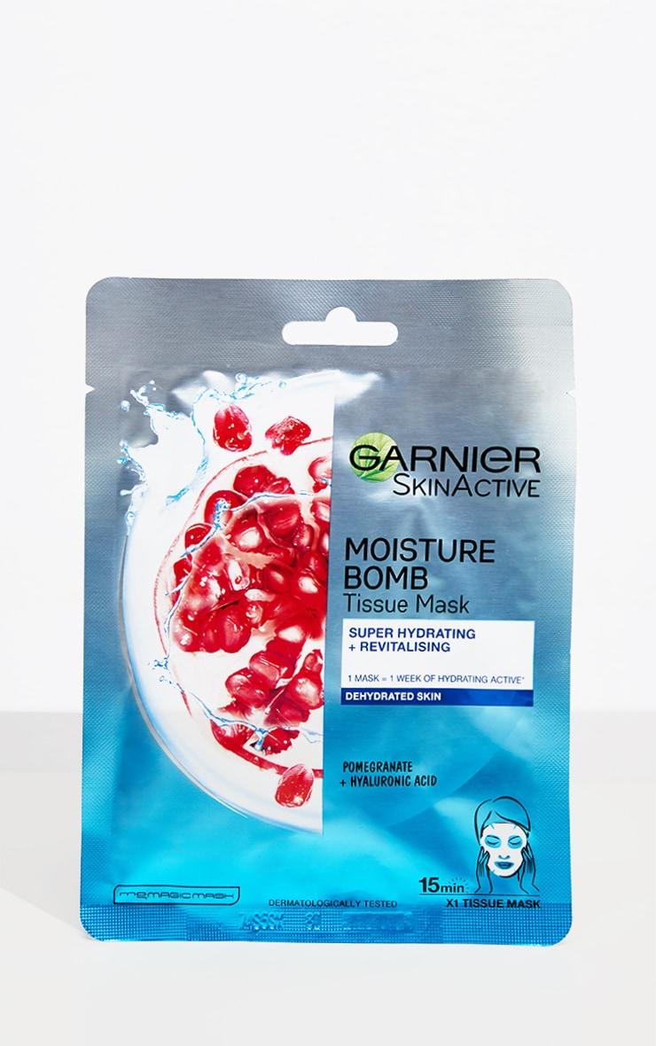 Garnier - Masque tissu hydratant à la grenade Moisture Bomb pour peaux sèches 2