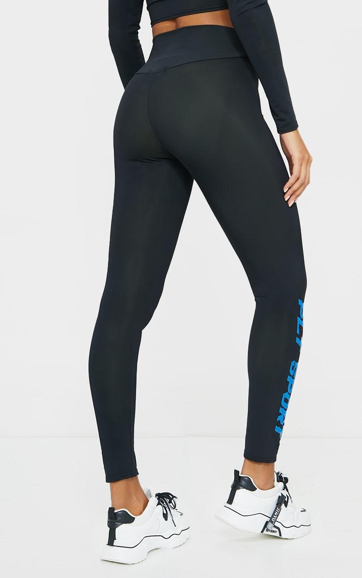 Black Sports High Waist Leggings 3