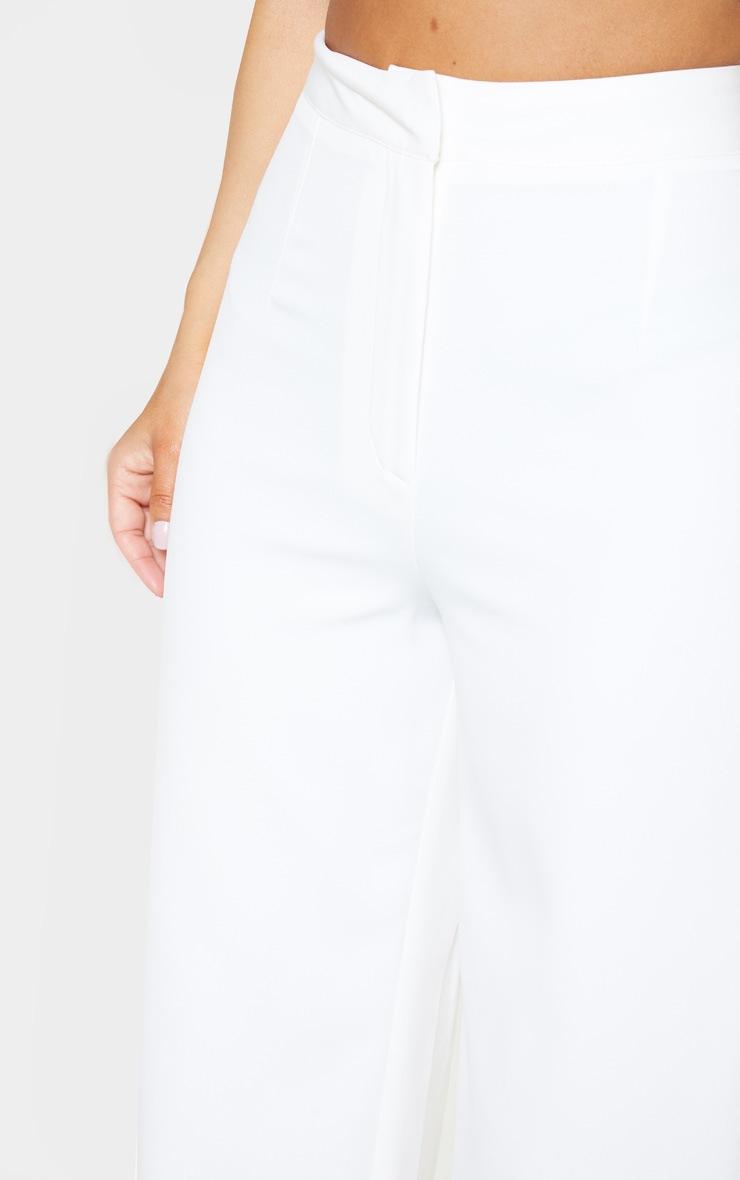 Petite White Tuxedo Trousers 5