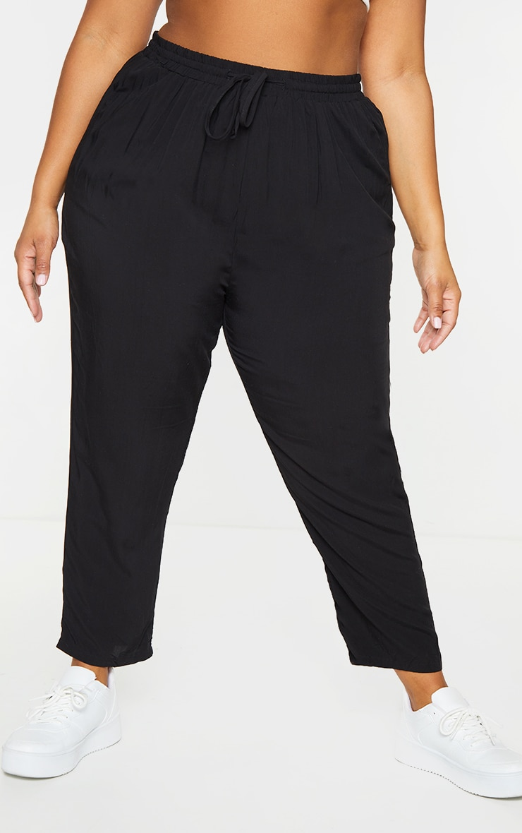 Plus Black Casual Trousers 2