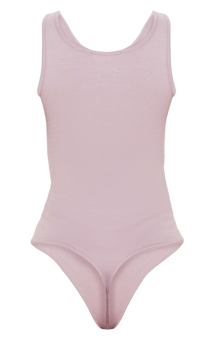 Dusty Lilac Cotton Scoop Neck Bodysuit 4