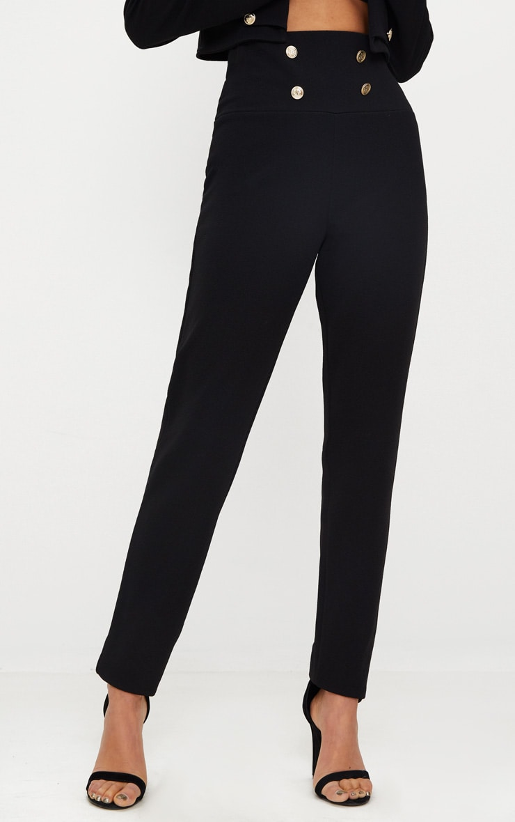 Black Military Skinny Trouser  2