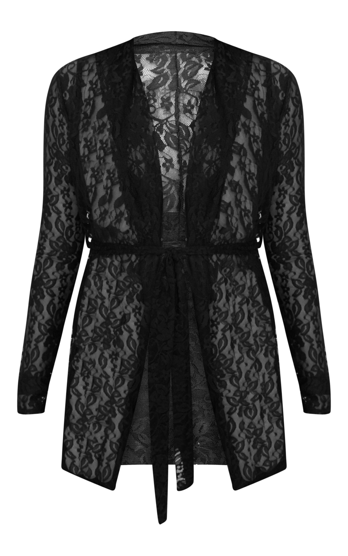 Petite Black Lace Blazer 3
