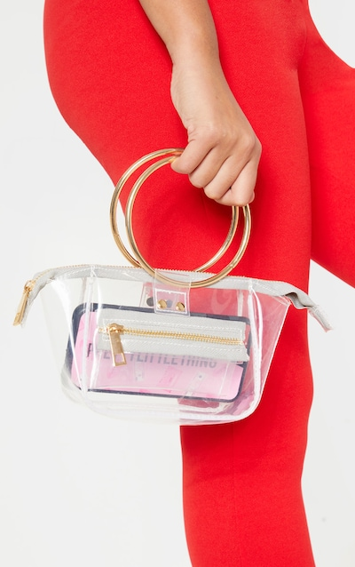 30145787a630 Clear With White Resin Circle Handle Mini Bag