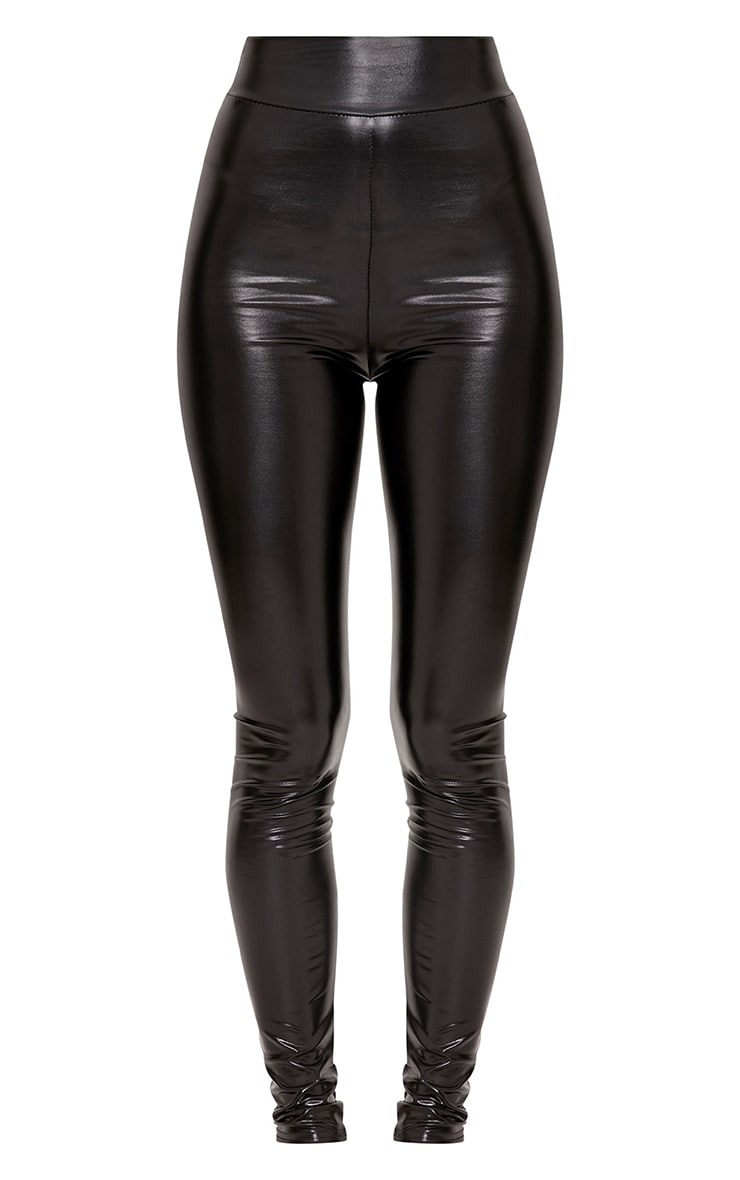 Tiana Black Wet Look Leggings 3