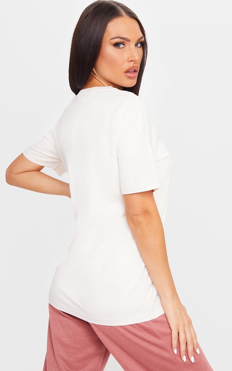Vintage White Organic T Shirt 2