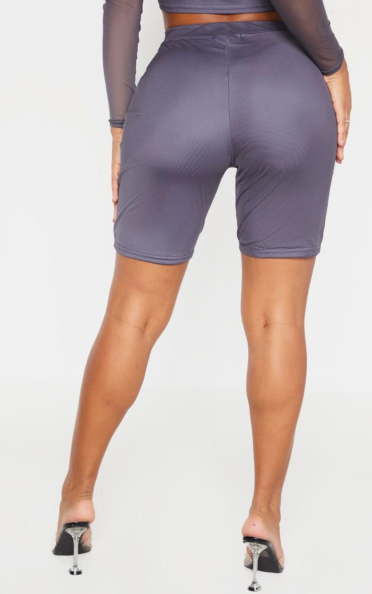 Shape Charcoal Mesh Cycling Shorts 2