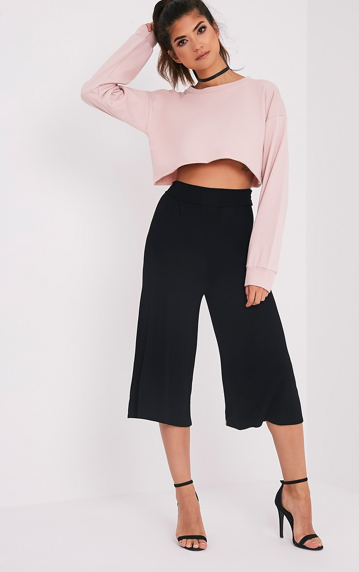 Basic Black Culottes 1