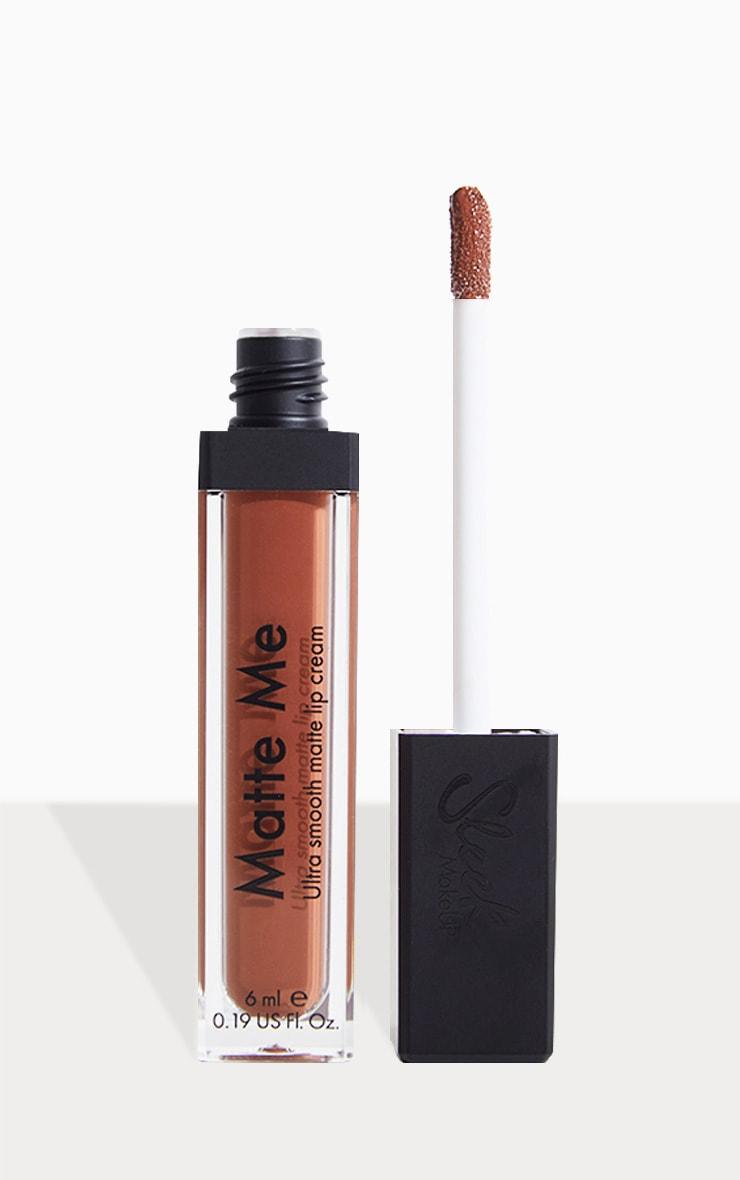 Sleek MakeUP Matte Me Lip Cream Roasted Almond 1