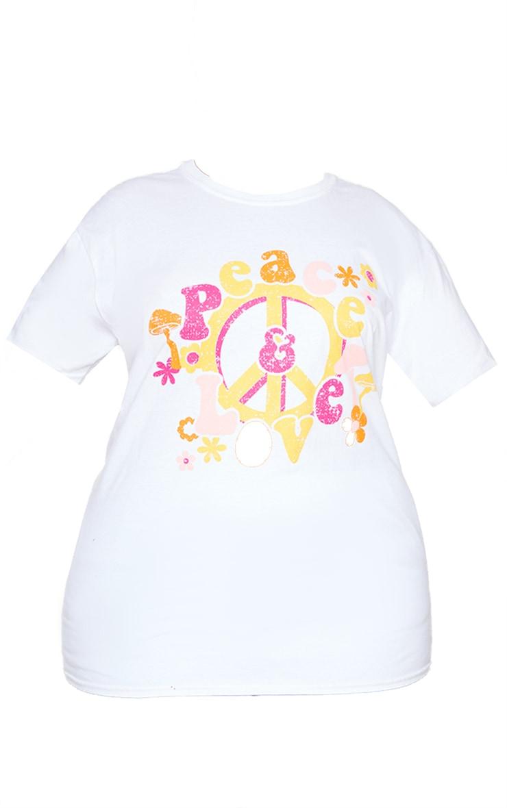 Plus White Peace T Shirt 5