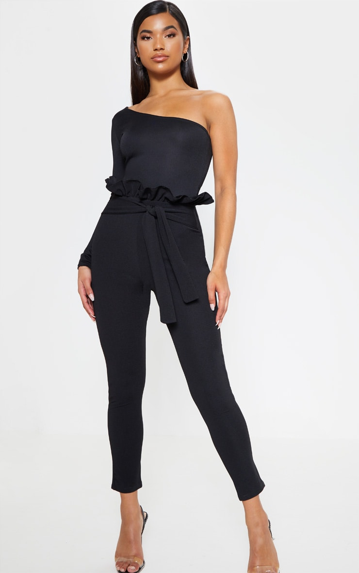 Perlita Black Paperbag Skinny Trousers 1