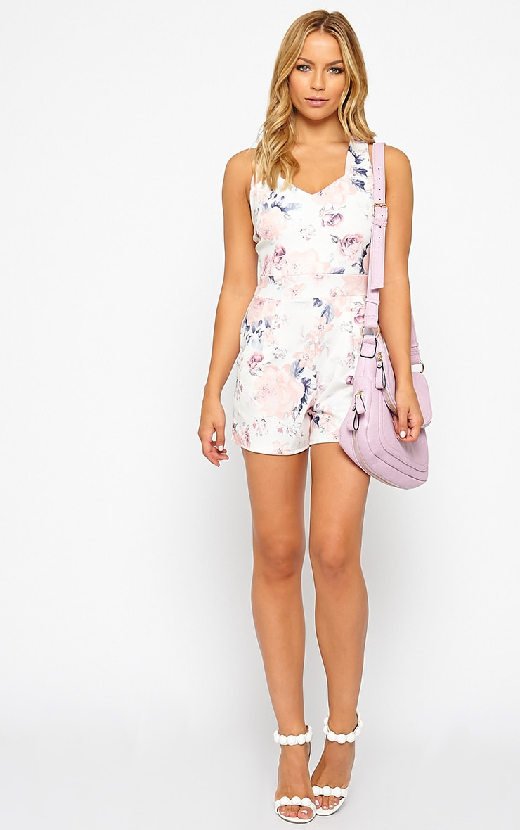 Pia Floral Print Cross Back Playsuit 3