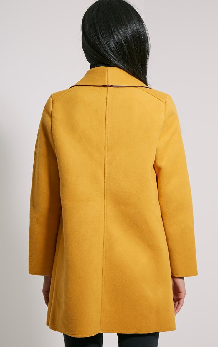 Saphari Mustard Contrast Oversized Coat 2
