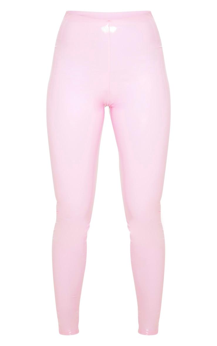 Baby Pink Highwaisted Vinyl Legging 3
