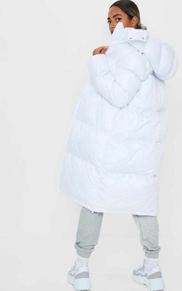 Petite White Maxi Puffer Coat 2