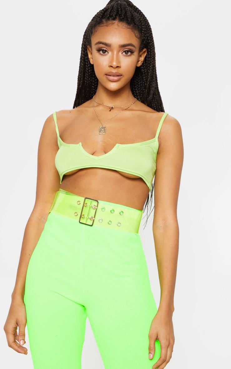 Neon Green Transparent Waist Belt 1