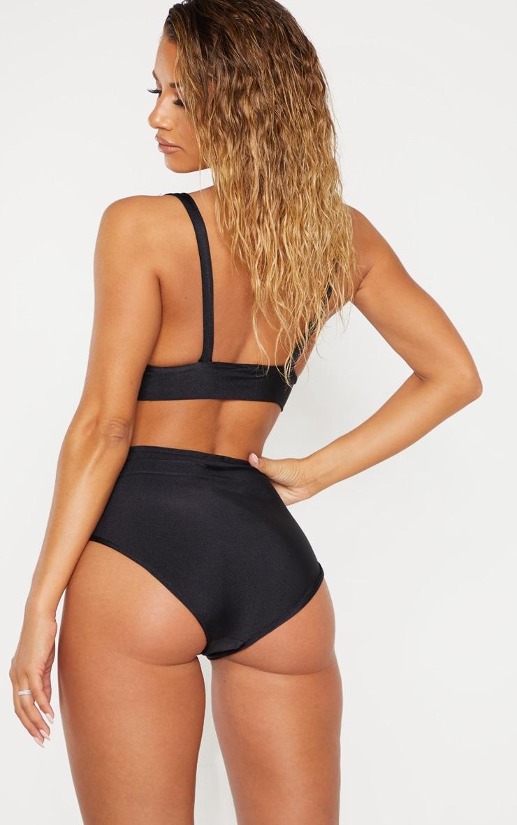 Black Plunge Hook & Eye Bikini Top 6