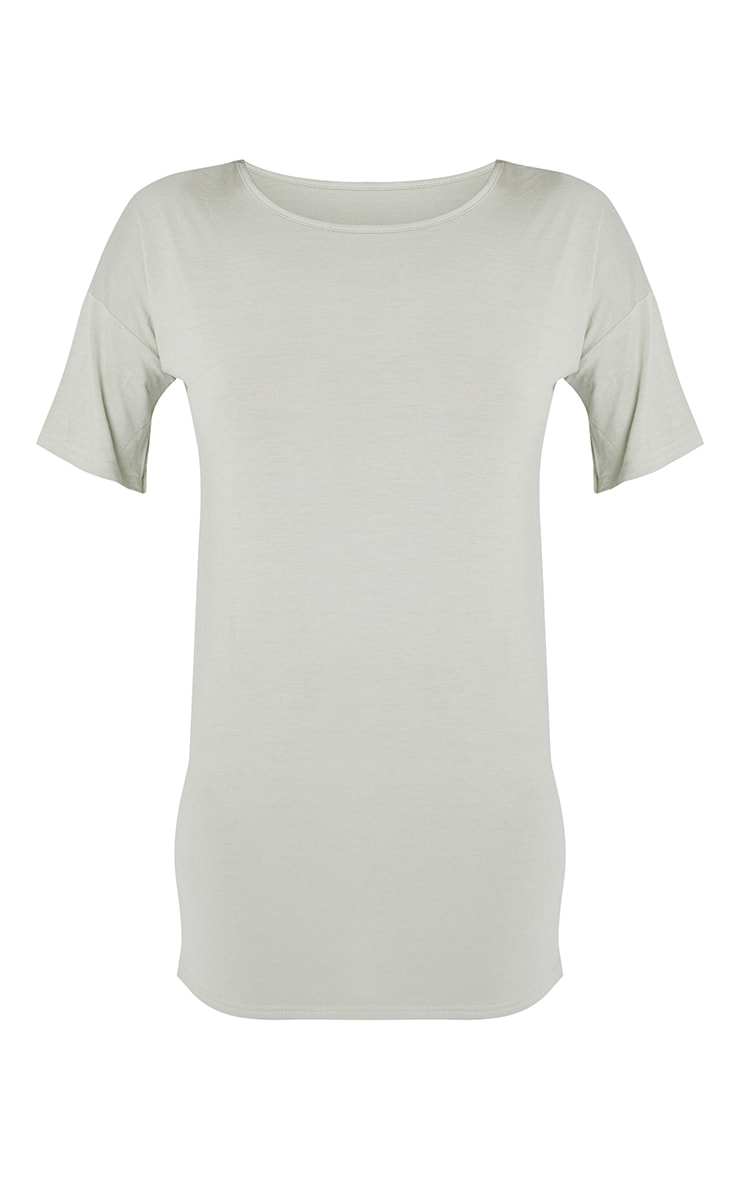 Petite Sage  Oversized T Shirt Dress 5