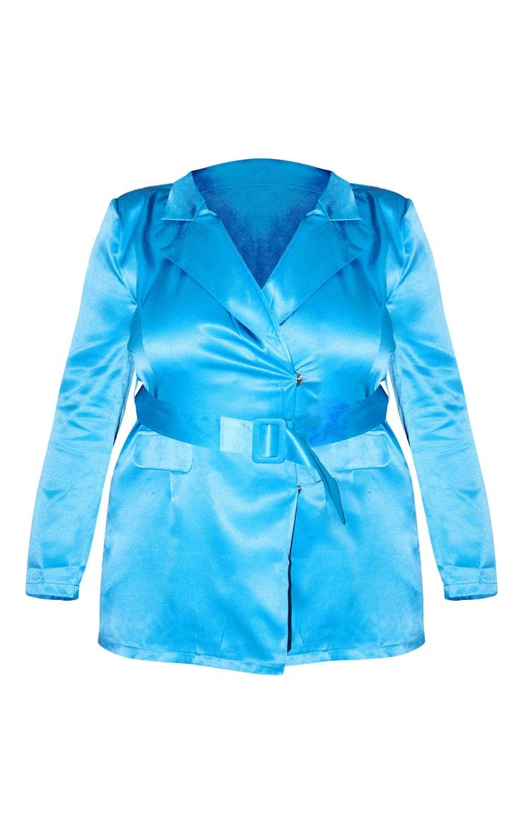 PLT Plus - Combishort blazer turquoise à poches 3