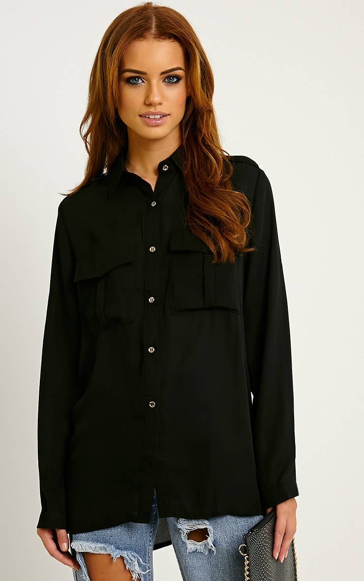 Bethan Black Utility Pocket Shirt 1
