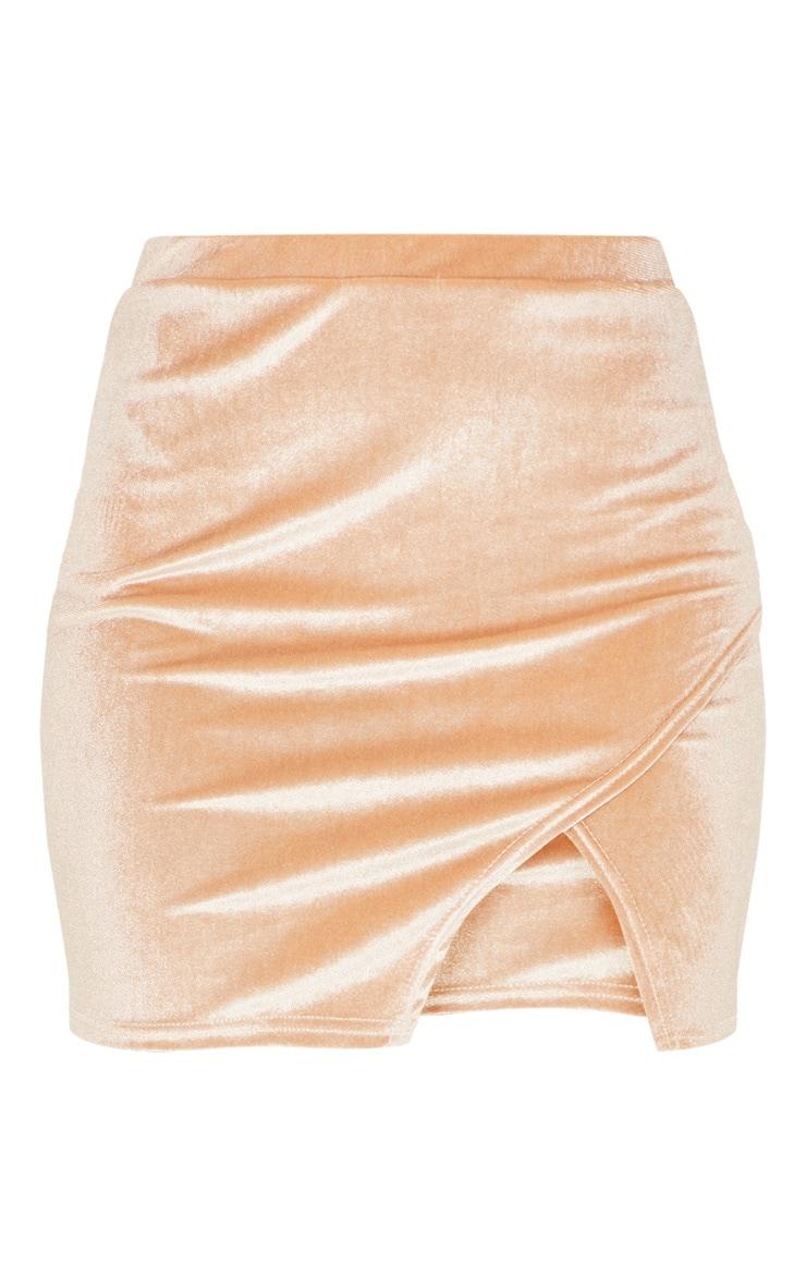 Stone Velvet Split Hem Mini Skirt 3