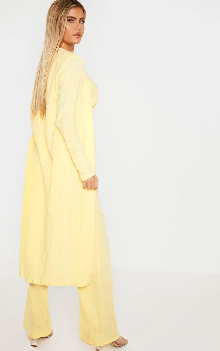 Tall Lemon Woven Longline Duster Jacket 2