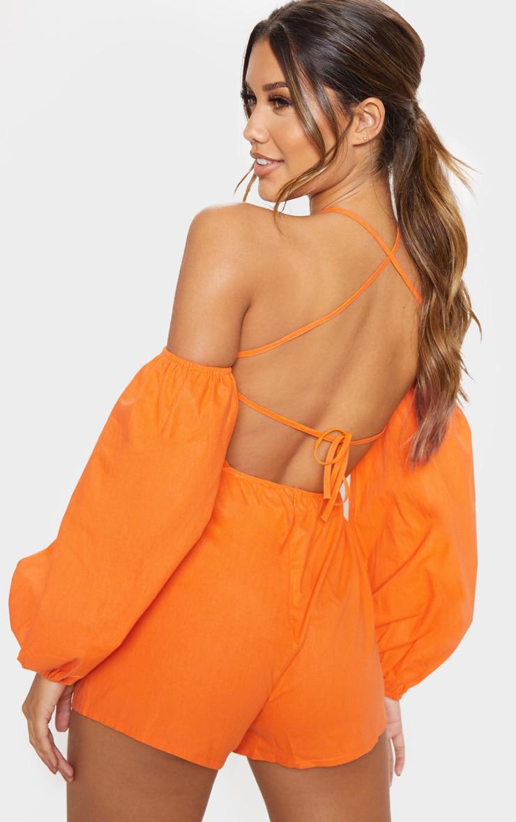 Orange Halterneck Romper 1