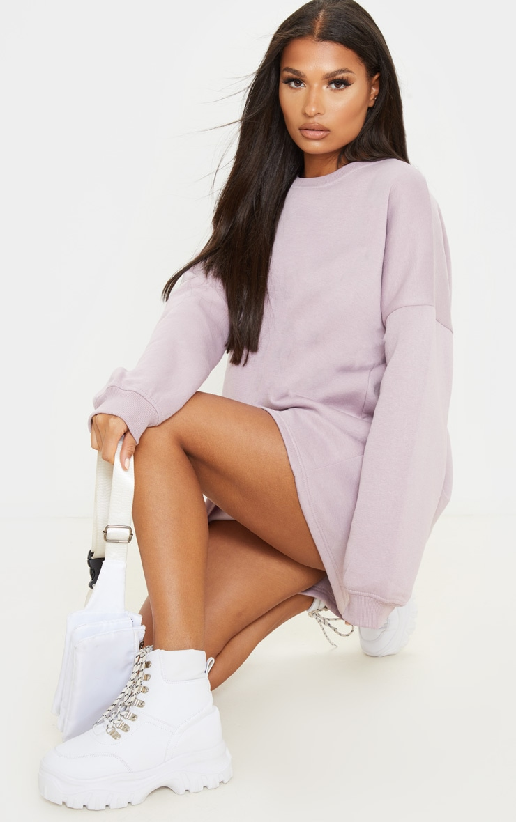 Dusty Lilac Oversized Sweater Dress 4