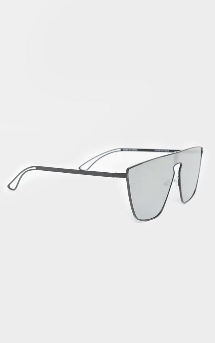 Silver Revo Flat Top Oversized Sunglasses 3