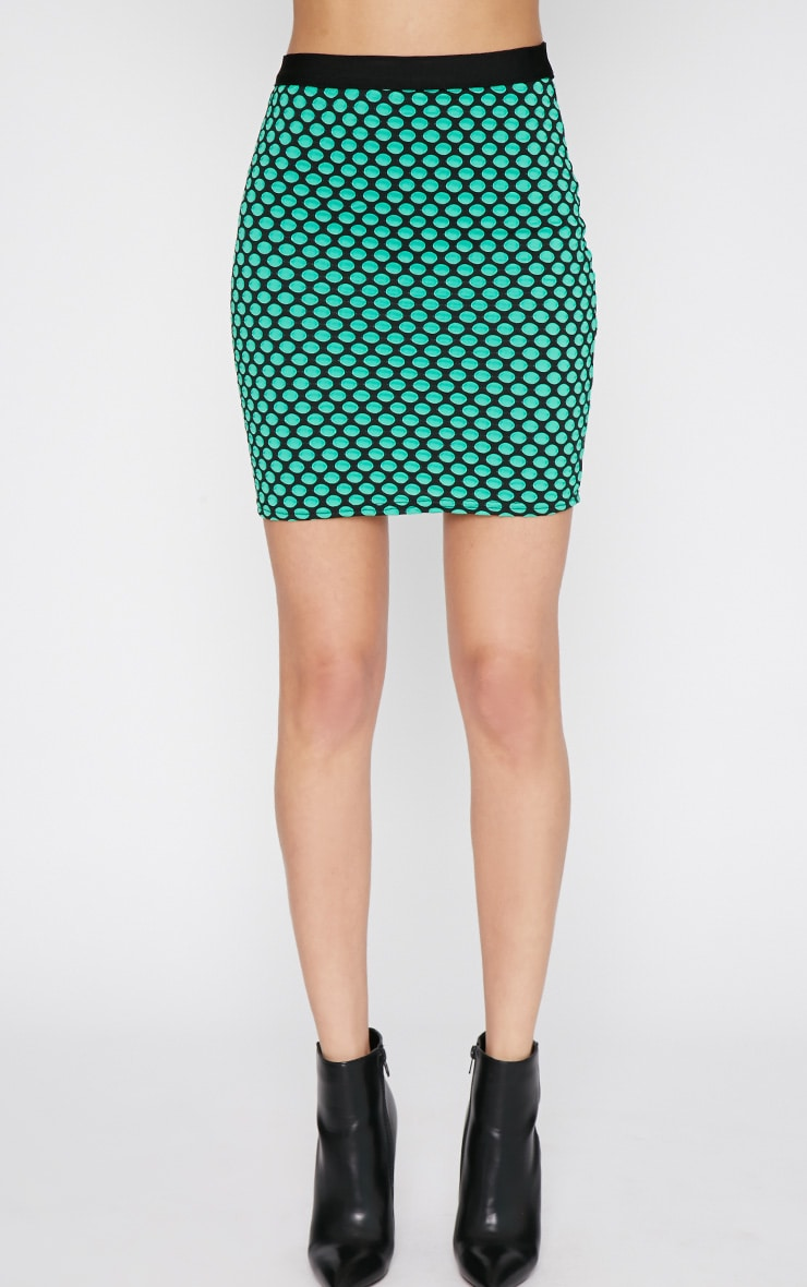 Lara Green Spotted Skirt -M/L 4