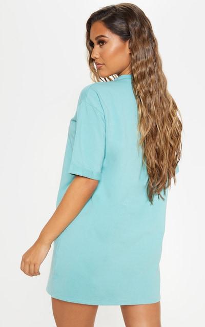 Turquoise Boyfriend Oversized T Shirt Dress