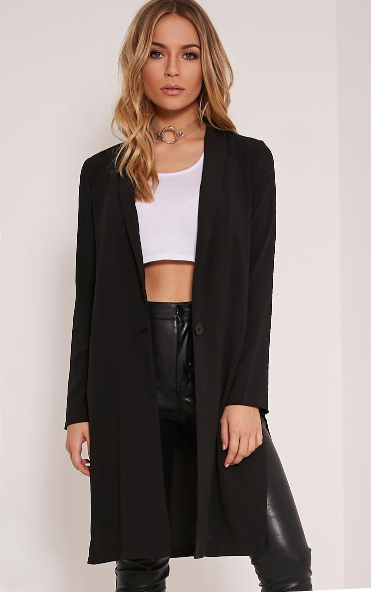 Kalla blazer long noir 1