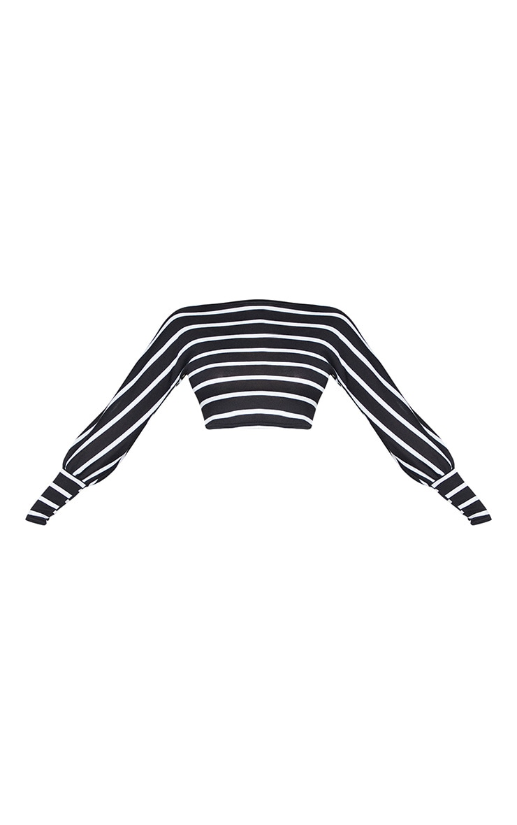 Tall Monochrome Light Weight Knit Long Sleeve Crop Top 3