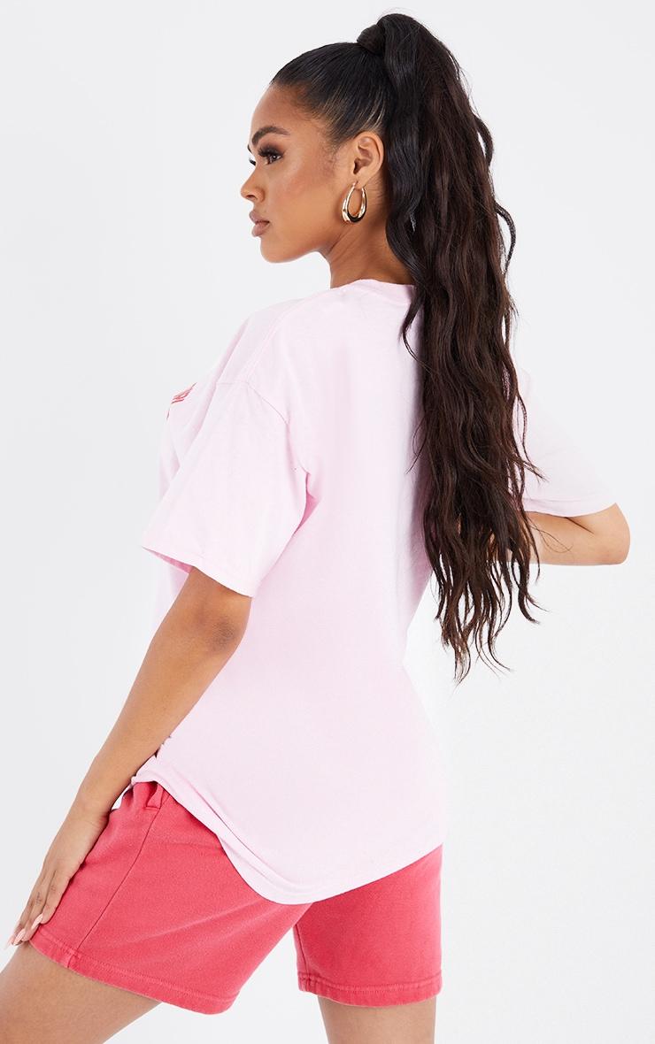 Pink Hot Girl Season Print T Shirt 2