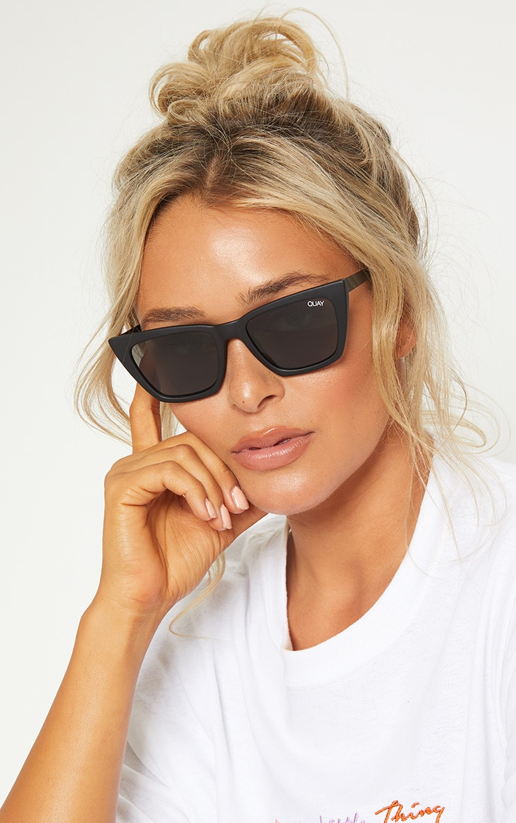 QUAY AUSTRALIA Black Dont At Me Square Sunglasses 1