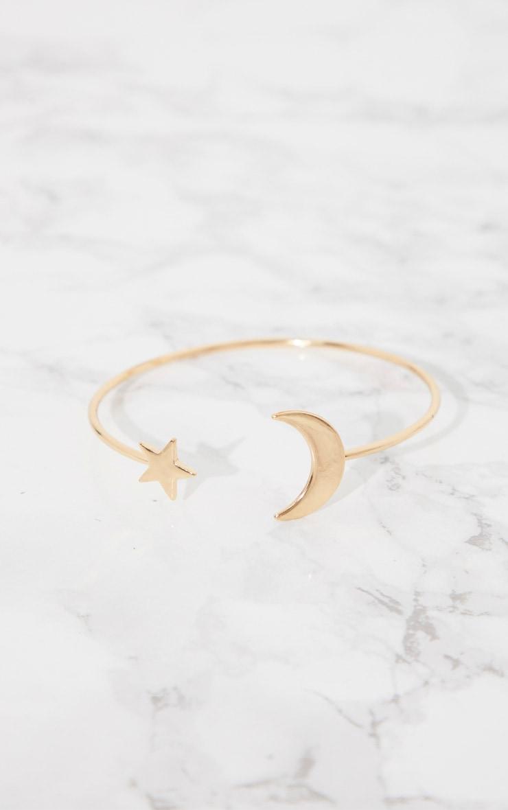 Gold Star Moon Arm Cuff 2