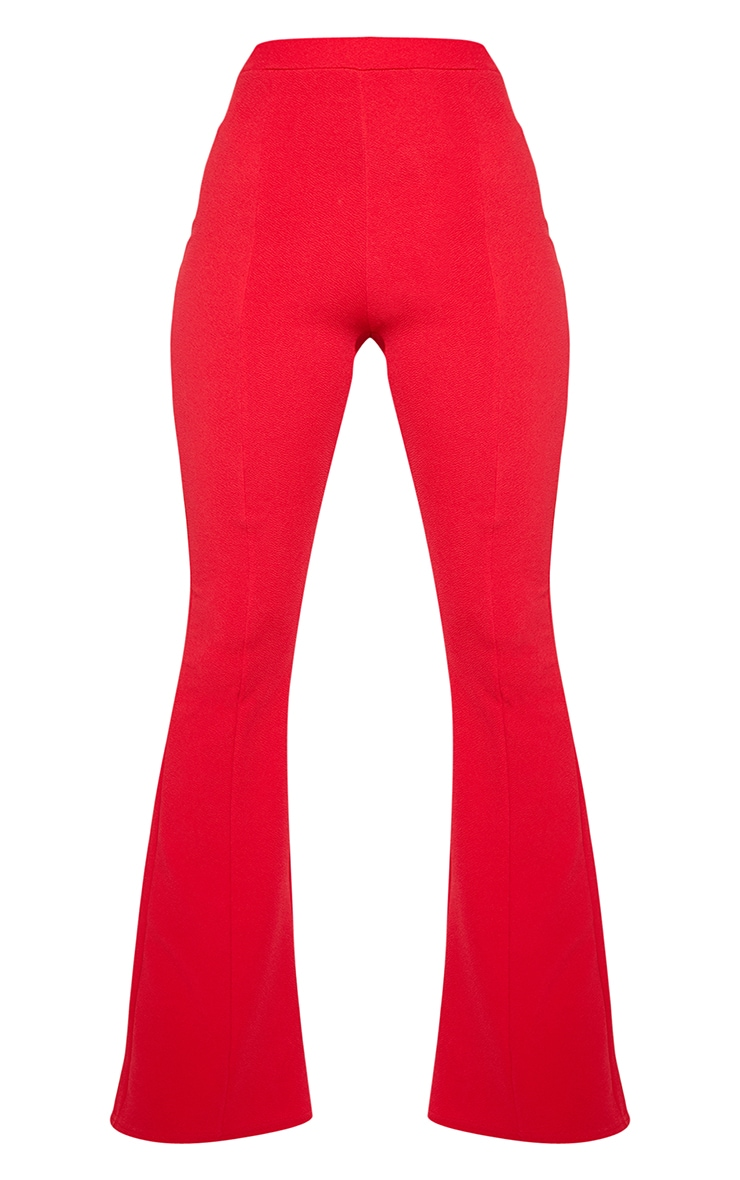 Red Flared Trouser  3
