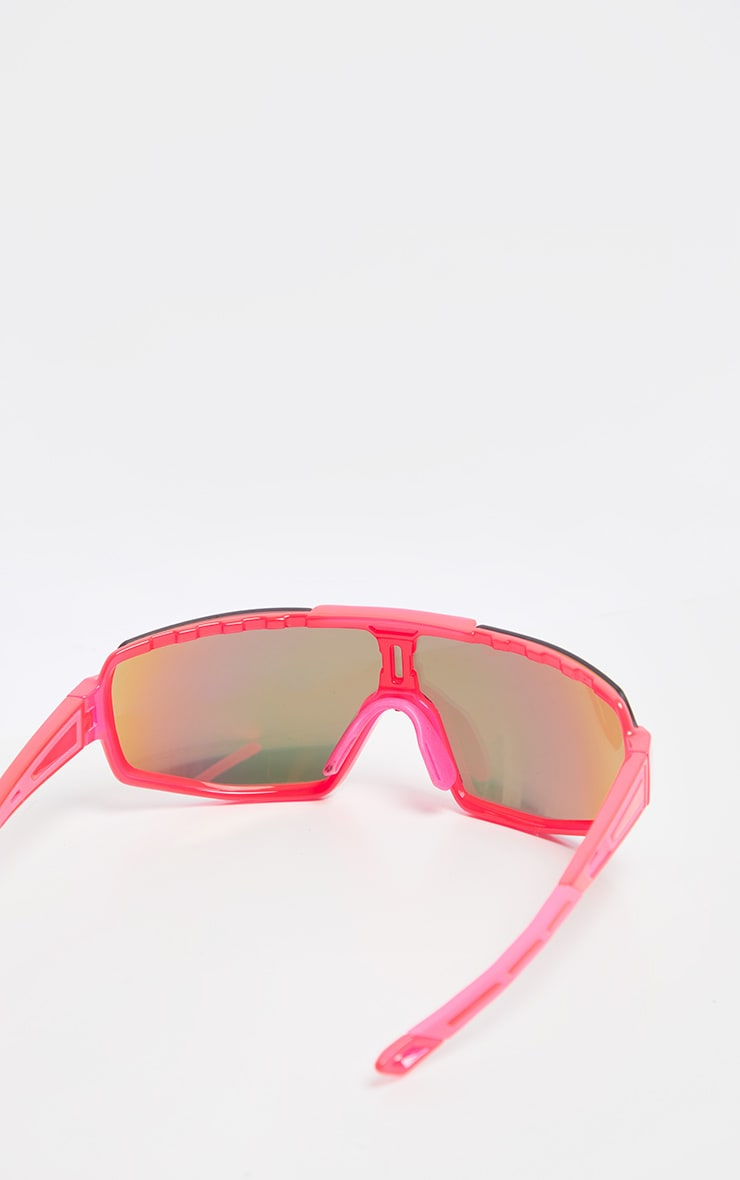 Neon Pink Revo Sports Visor Sunglasses   3