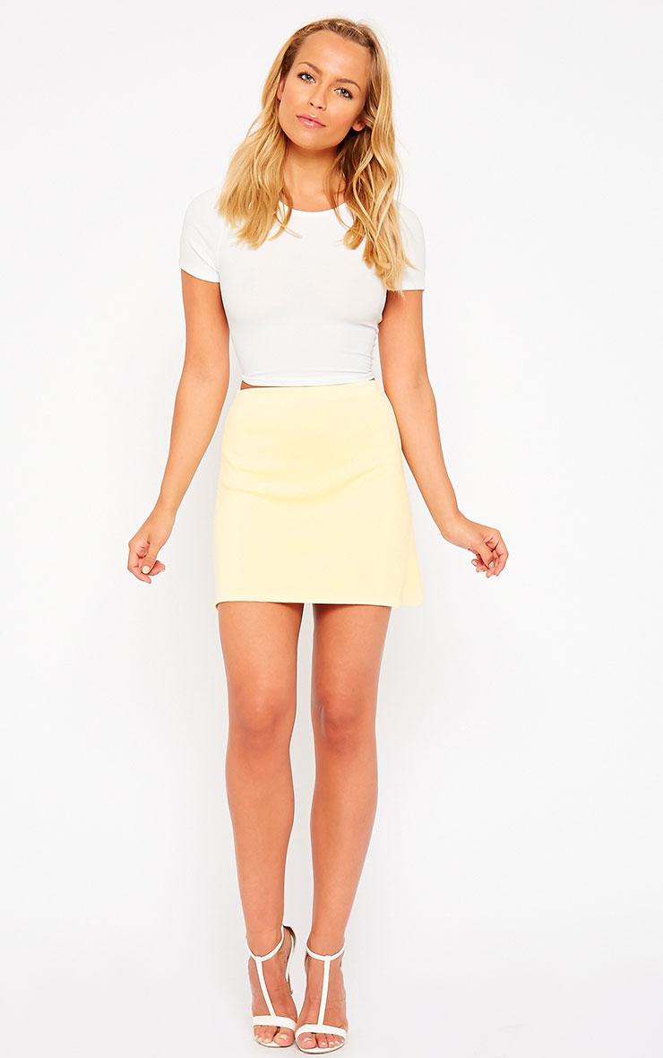 Lauryn Lemon Scuba A Line Skirt 5