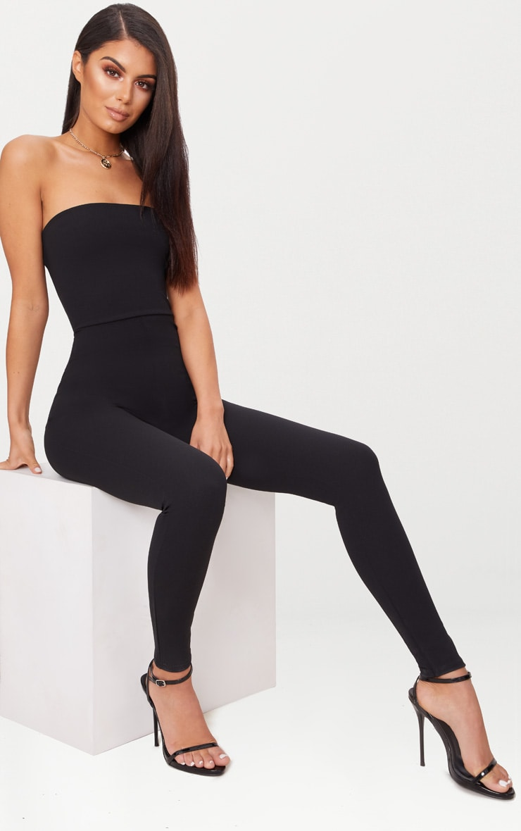 Black Bandeau Slim Leg Jumpsuit 4