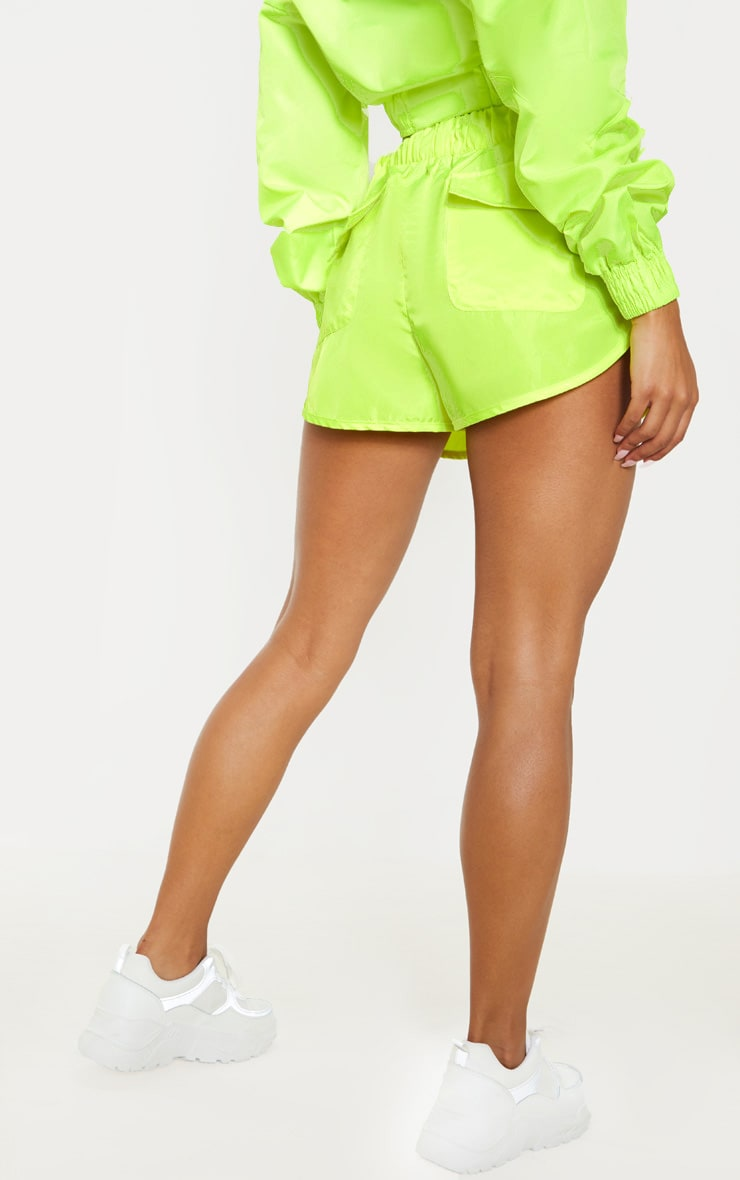 Lime Shell Pocket Detail Runner Short 4