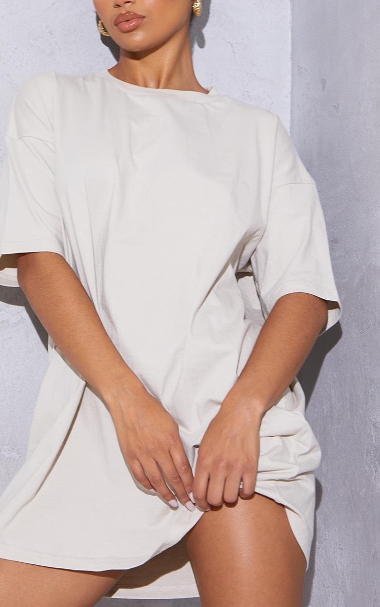 RENEW Washed Stone Oversized Boyfriend T Shirt Dress 4