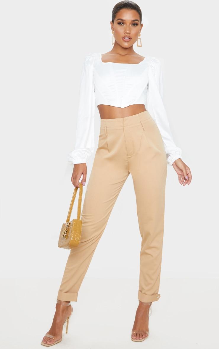 Camel Cuff Hem Trousers  1
