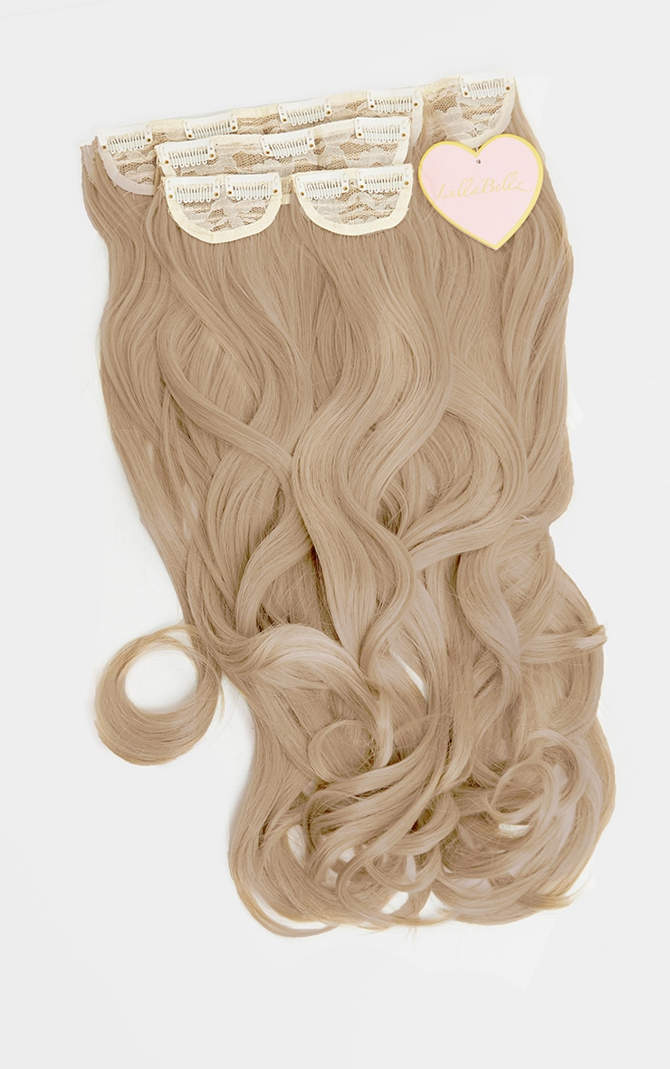 LullaBellz 22 5 Piece Blow Dry Clip In Hair Extensions California Blonde 5