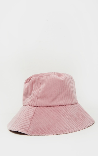 Pink Cord Effect Bucket Hat