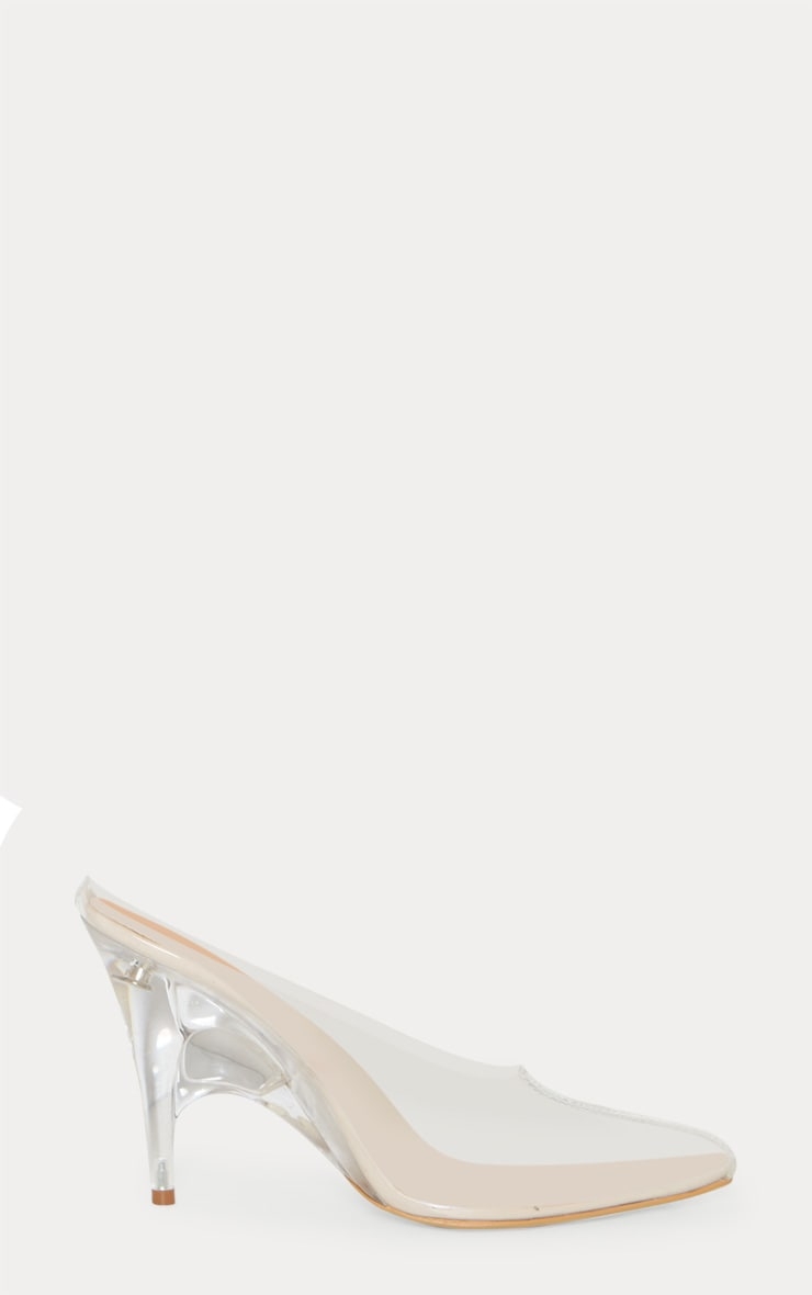 Clear Heeled Mules 3