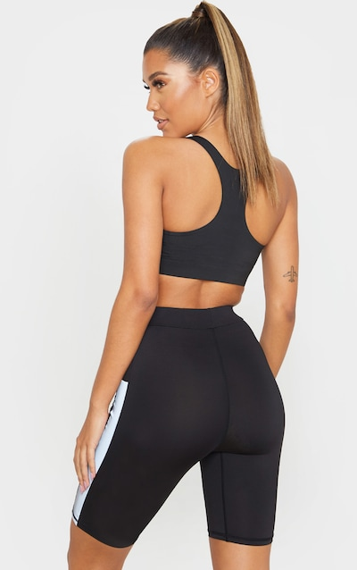 Black Reflective Sports Bra