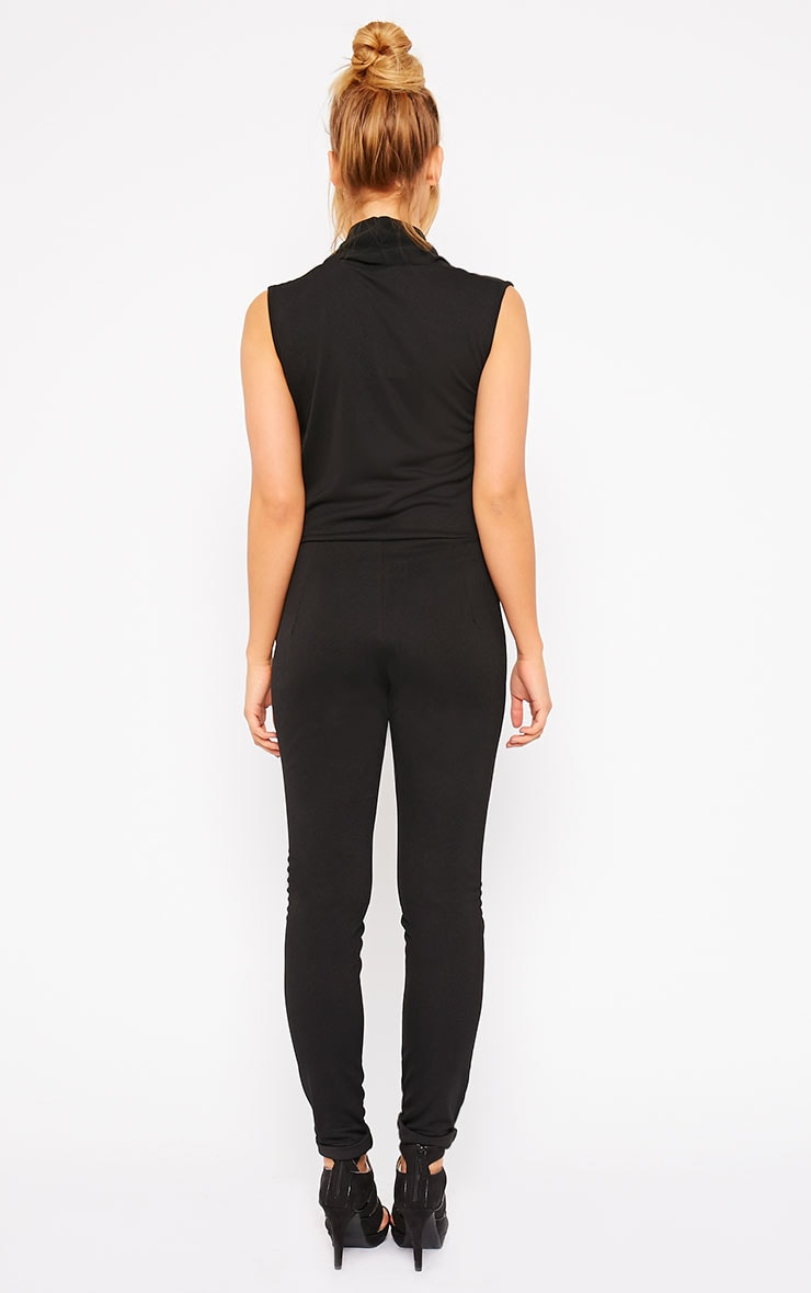 Julia Black Cowl Neck Jumpsuit 2