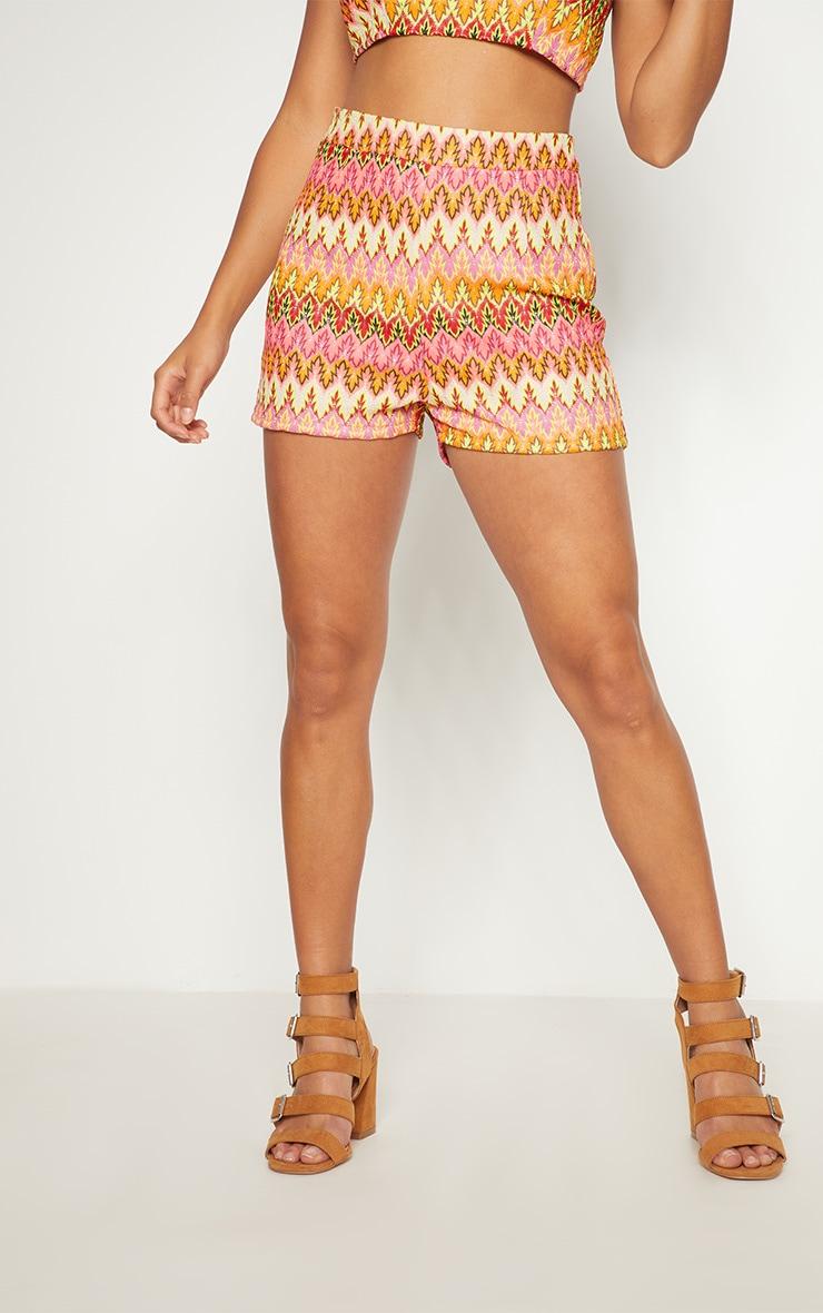 Petite Nude Chevron Shorts 2