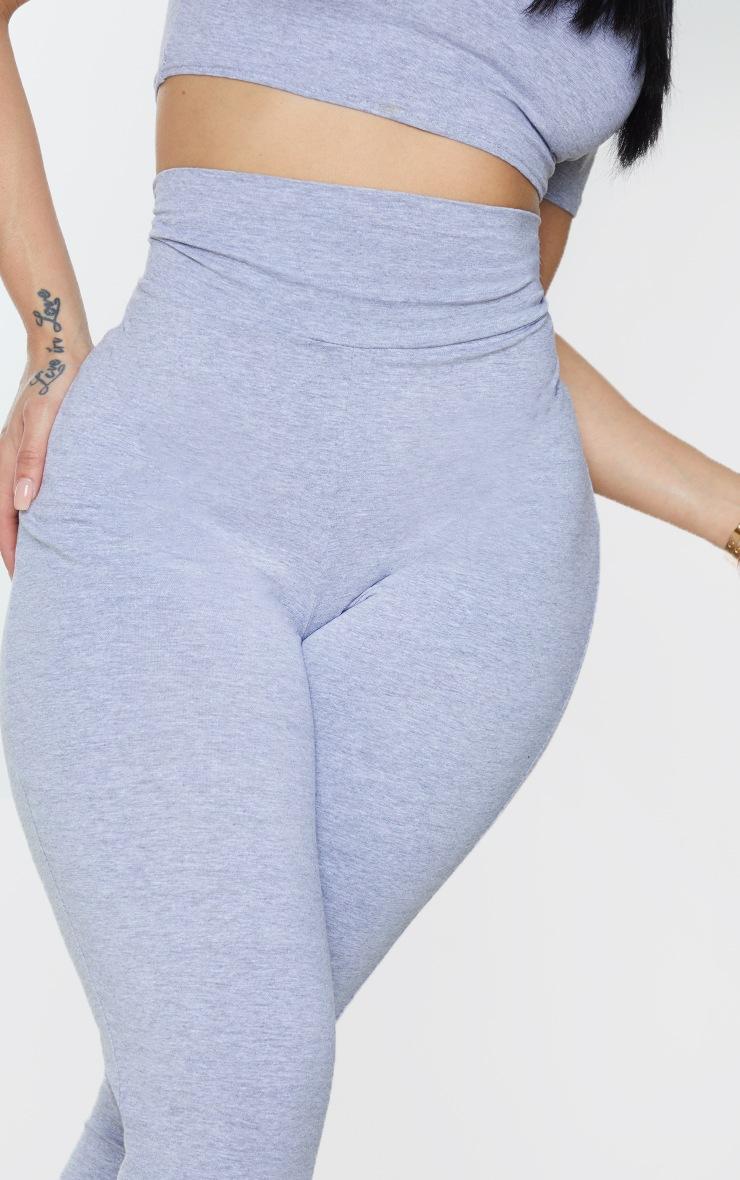 Shape Grey Cotton Deep Waistband Cropped Leggings 4